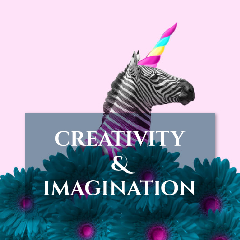 CREATIVITY and IMAGINATION image Journal Pairings page